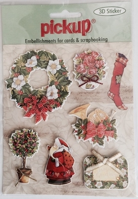 PU6046x Embellishment for cards en scrapbooking Pick up