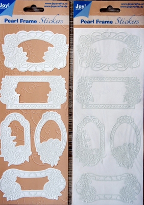 Pearl Frame Stickers Embossed  nr. 1303