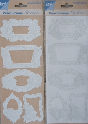 Pearl Frame Stickers Embossed  nr. 1304