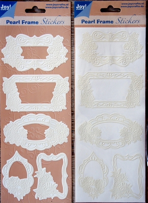 Pearl Frame Stickers Embossed  nr. 1308