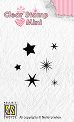 MAFS009 Clear stamps mini Stars