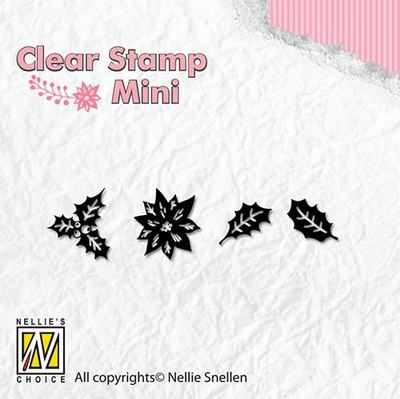 MAFS005 Clear Stamps Christmas mini Holly leaves