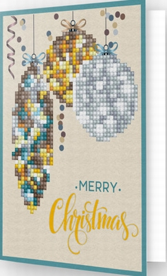 DDG.009 Diamond Dotz® - Greeting Card MERRY CHRISTMAS BAUBL