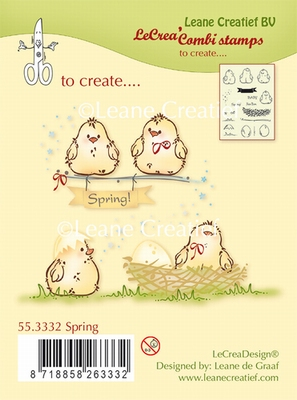 55.3332 Combi clear stamp Spring