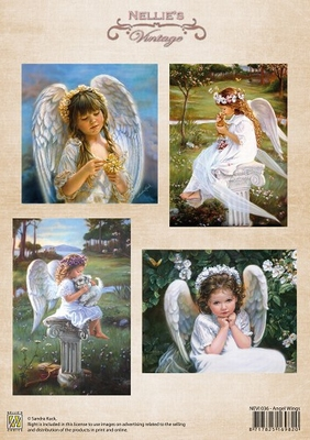 NEVI036 3D Knipvel - Vintage - Angel Wings