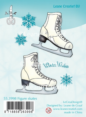 55.3998 Clear Stamp Figure Skates