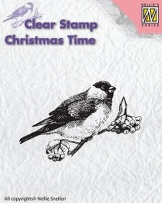"CT011 clear stamp Christmas time ""bird"""
