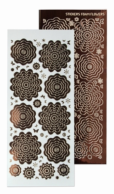 61.5879 Nested Flowers stickers 8. mirror brown