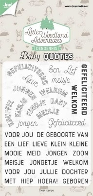 6410/0515 Clearstamps - Dendennis - Baby quotes Joy!crafts