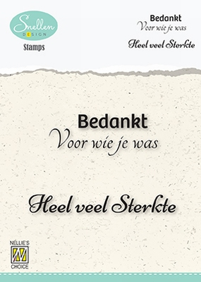 DCTCS004 Dutch Condolence Text Clear Stamps nr. 4