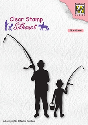 SIL073 Clear stamps Men-things Fishermen