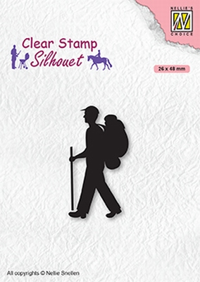 SIL067 Clear stamps Men-things Backpacker