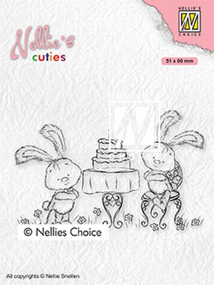 NCCS005 Nellie's Cuties Clear stamps Javi birthday party