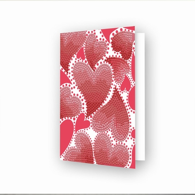DDG.032 Diamond Dotz® - Greeting Card Hearts Swirl