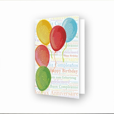 DDG.033 Diamond Dotz® - Greeting Card Balloons on High