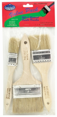 RCHP-3-PK CHIP BRUSH SET - Assortie witte haren 3 st.