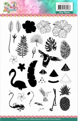 YCCS10051 Clear Stamps - Yvonne Creations - Happy Tropics