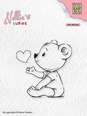 NCCS009 Nellie's Cuties Clear stamps Love you mama