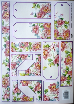 TBZ529044 Embossed Bloemenlabels