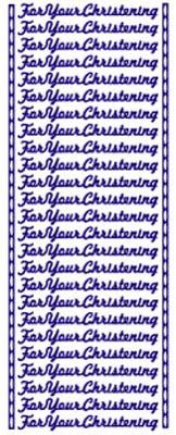 ST807G Sticker For your christening Goud