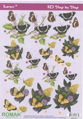 Karen 3D Sheets Butterflies 04
