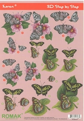 Karen 3D sheets Butterflies 05
