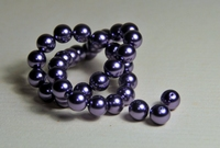 5010043  20 X Glasparel  Purper 8mm.