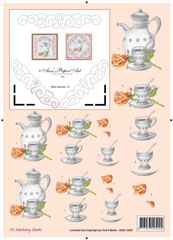 Tea/Coffeepot Embroidery 3DSS
