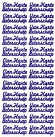 ST013WM Sticker Van Harte Beterschap Wit/Multi