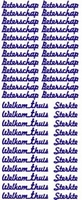 ST016WM  Sticker Beterschap Wit/Multi