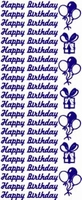 ST088Z Sticker Happy Birthday Zilver