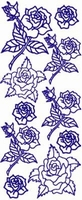 ST124WM Sticker Div.bloemen  Wit/Multi