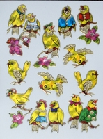 STE278 Love Birdss afm.stickervel 10 X 7,50 CM