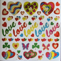 STG325 Love afm.Stickervel 15 X 15 CM