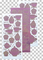 617483  Leane Creatief stickers Mirror Candy Thea & Cupcake