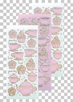 617490  Leane Creatief stickers  Candy Thea & Cupcake