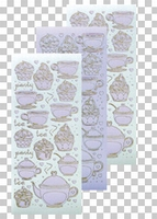 617452  Leane Creatief stickers Violet  Thea & Cupcake