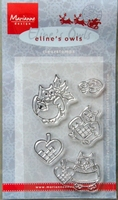 EC0141 Clearstamp Marianne Design eline`s owls