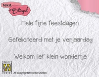 DTCS015 Clear stamps Dutch texts Feestdagen, verjaardag,gebo