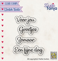 DTCS026 Clear stamps Dutch texts Voor jou etc..