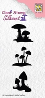 SIL034 Silhouette clear stamps mushrooms