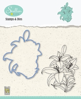 HDCS005 Flowers Die + Clear stamp serie: Lily