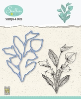 HDCS007 Flowers Die + Clear stamp serie: Anthurium
