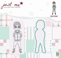 JMSD006 Just Me Die + Clear stamp Teenage boy