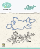HDCS006 Flowers Die + Clear stamp serie: Rose