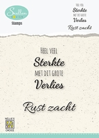 DCTCS001 Dutch Condolence Text Clear Stamps nr. 1