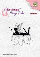 FTCS022 Clear stamps Fairy Tale nr. 20 Elf laying on flower