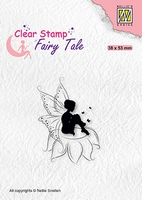 FTCS020 Clear stamps Fairy Tale nr. 18 Elf sitting on flower