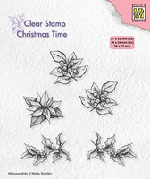 CT036 Clear stamps Christmas time poinsettia