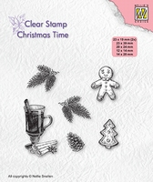 CT037 Clear stamps Christmas time Christmas decorations